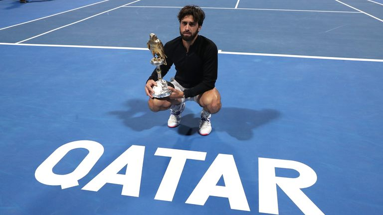 Nikoloz Basilashvili capped a remarkable return to form by lifting the Qatar ExxonMobil Open trophy