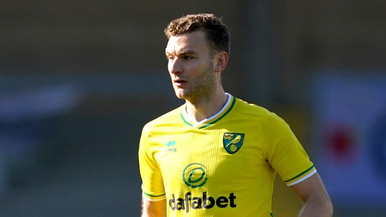 PA - Ben Gibson in action for Norwich City
