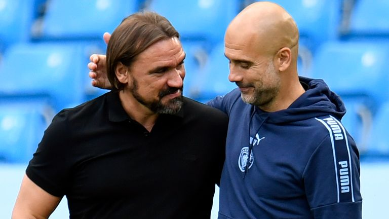 Daniel Farke says he has a great relationship with Pep Guardiola
