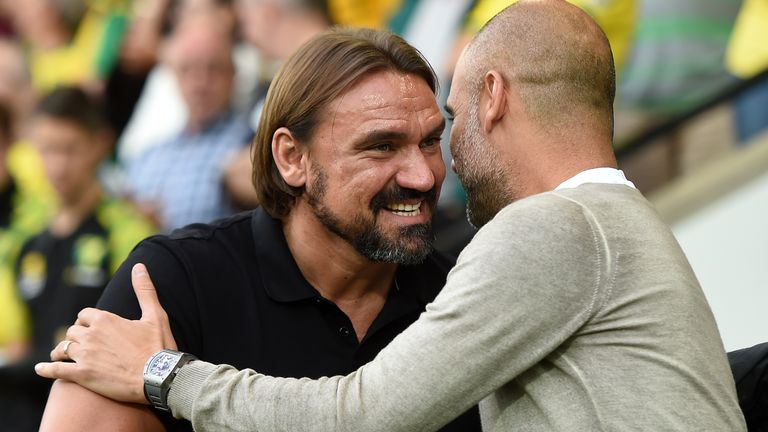 Daniel Farke and Pep Guardiola