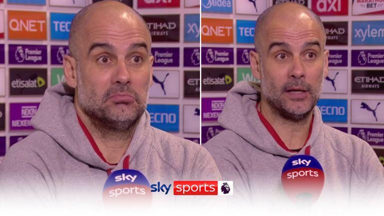 Pep Guardiola's postmatch chat against Southampton