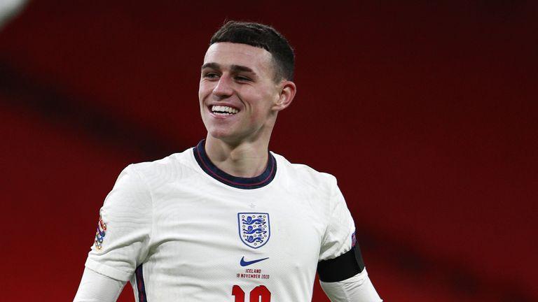 Phil Foden in gioco per l'Inghilterra