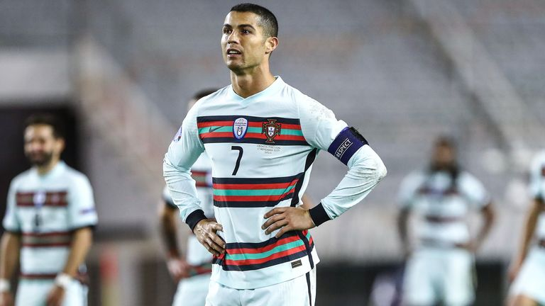 Cristiano Ronaldo in Portugal's Euro 2020 Nike away kit