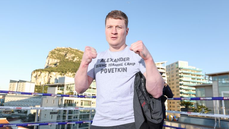 Povetkin v Whyte II Fighter Workouts Alexander Povetkin during his public workout 24 March 2021 Picture By Mark Robinson Matchroom Boxing