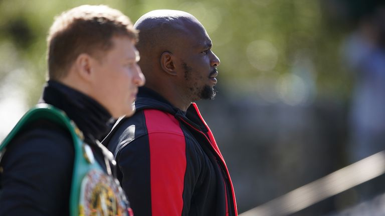 *** FREE FOR EDITORIAL USE ***.Alexander Povetkin and Dillian Whyte Press Conference ahead of their Interim WBC Heavyweight World Title fight on Saturday night..25 March 2021.Picture By Dave Thompson Matchroom Boxing.