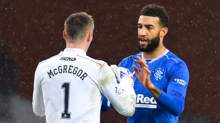 Rangers' Connor Goldson (R) and Allan McGregor. Rangers evolution