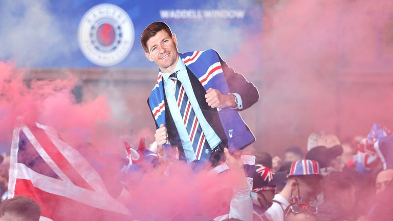 Rangers fans - Ibrox Stadium