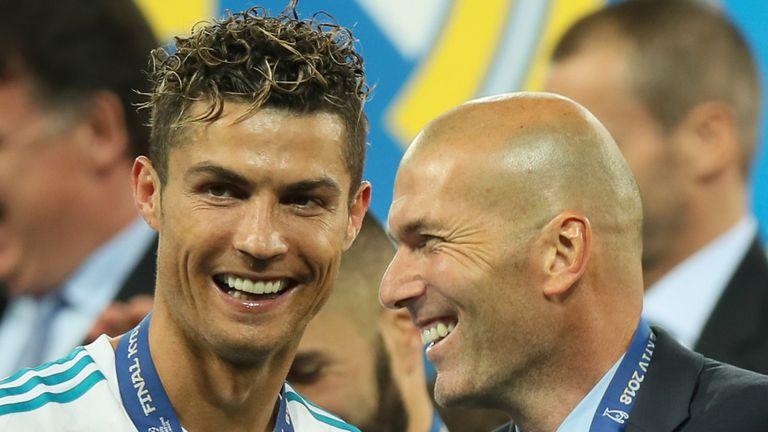 Cristiano Ronaldo and Zinedine Zidane (Getty)