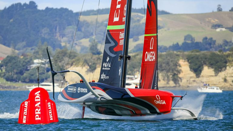 After securing race seventh, Team Emirates New Zealand produced a superb comeback to enter race eight (Image Credit - ACE | Studio Borlenghi)