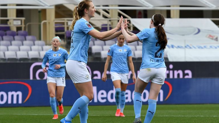 Manchester City are hoping to win the Women's Champions League for the first time