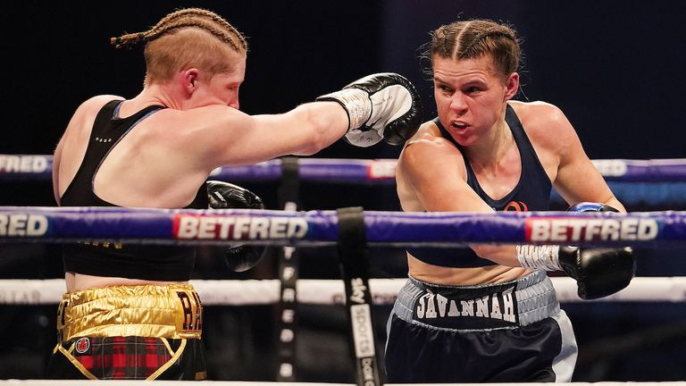 HANDOUT PICTURE COMPLIMENTS OF MATCHROOM BOXING.Savannah Marshall vs Hannah Rankin, Vacant WBO Middleweight World Title  Title..31 October 2020.Picture By Dave Thompson