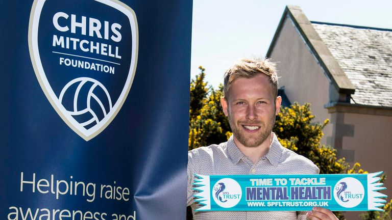 Scott Arfield has been part of the Chris Mitchell Foundation since it's inception following the suicide of the Rangers midfielder's best friend