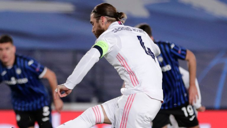 Sergio Ramos scores from the penalty spot for Real Madrid