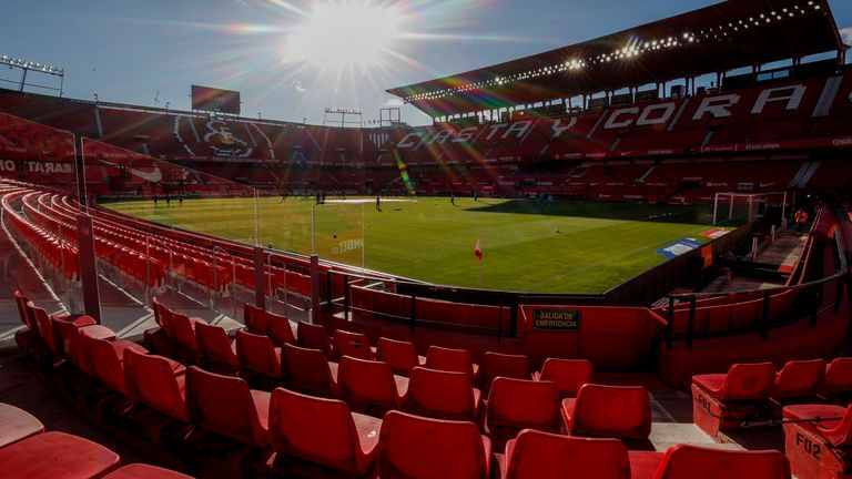 The Ramon Sanchez-Pizjuan Stadium will host both of Chelsea's quarter-final ties next month