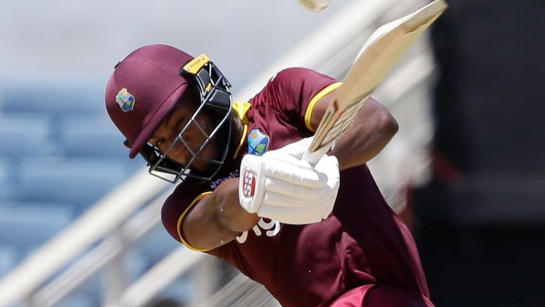 Shai Hope hit a 10th hundred in ODI cricket for the West Indies