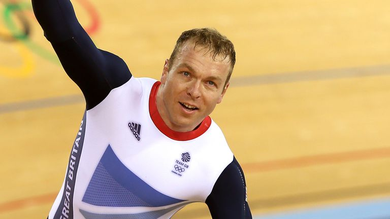 Sir Chris Hoy celebrates Olympic Gold at London 2012