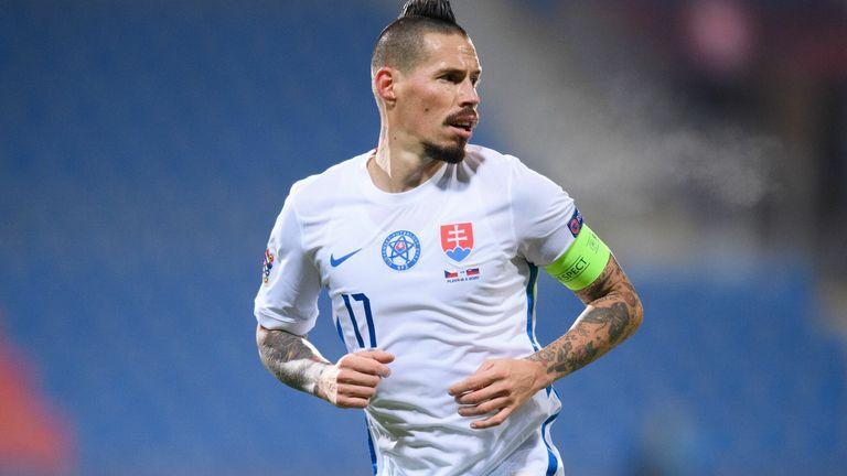 Marek Hamsik in Slovakia's home kit