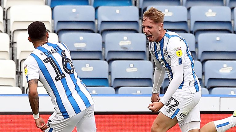 Emile Smith Rowe made 19 Championship appearances for Huddersfield, contributing two goals and two assists