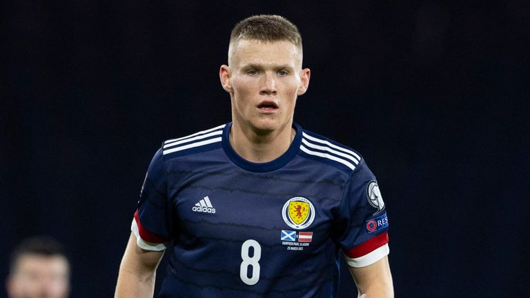 SNS - Scott McTominay in action for Scotland
