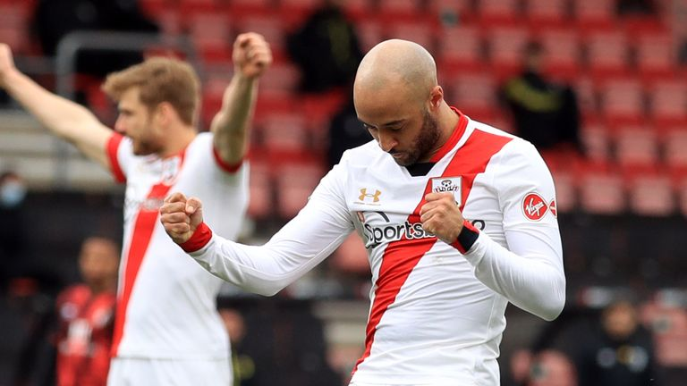 Nathan Redmond scores twice as Southampton beat Bournemouth 3-0 in the FA Cup quarter-finals