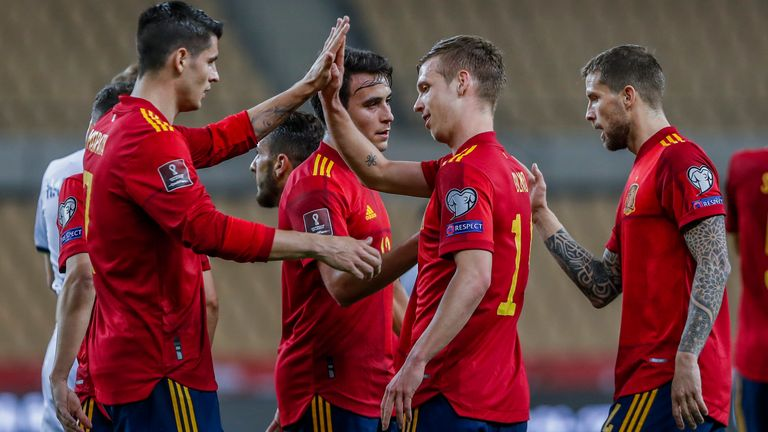 Action from Spain vs Kosovo