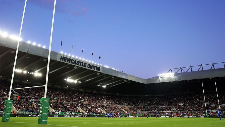 The opening match of the tournament will be played at St James' Park, Newcastle