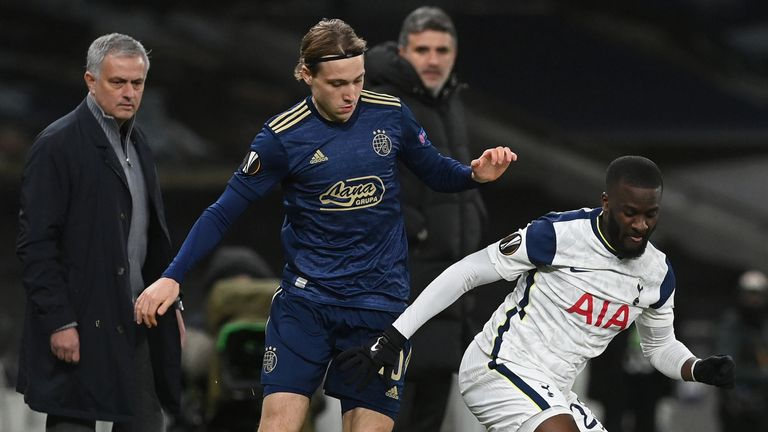 Tanguy Ndombele was one of seven changes for Tottenham