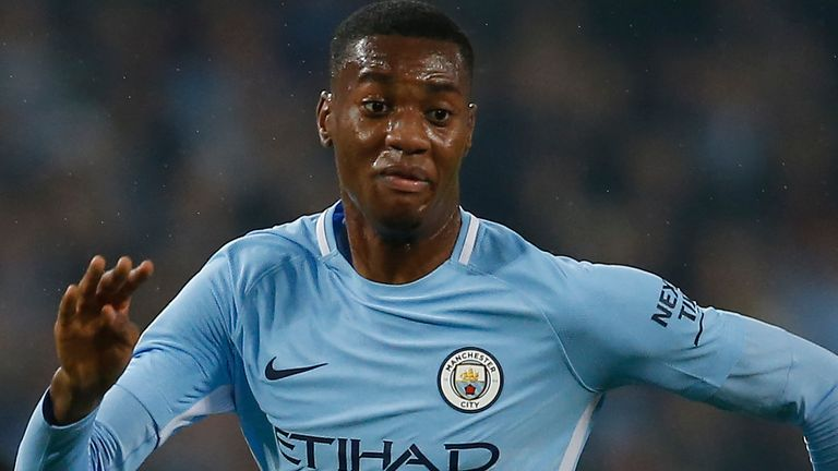Tosin Adarabioyo played in some Man City first team matches, but did not feature in the Premier League (credit: Simon Bellis/Sportimage)