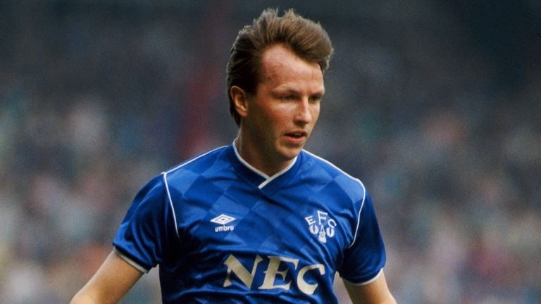 Everton player Trevor Steven in action during a Merseyside derby at Anfield on April 25, 1987