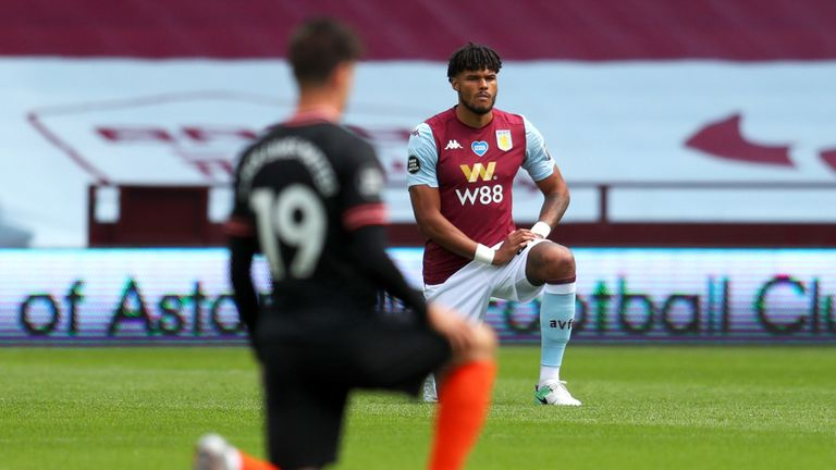 Tyrone Mings was among the first Premier League players to take a knee last season