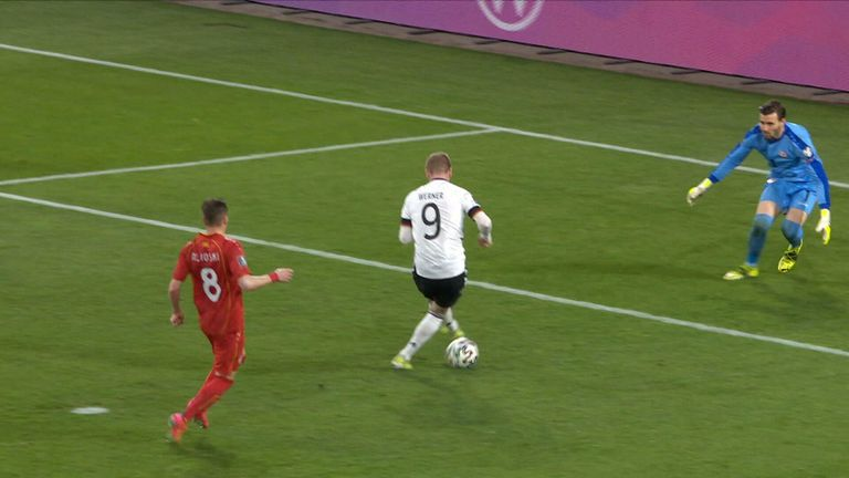 Werner missed a big chance against North Macedonia.