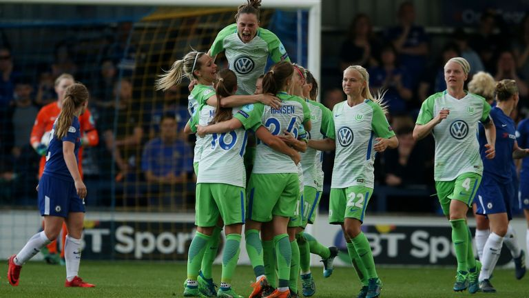 Wolfsburg knocked Chelsea out of the Champions League for a third successive season in the 2017-18 season (PA)