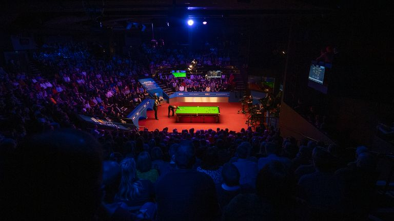 A general view of play during day fifteen of the 2019 Betfred World Championship at The Crucible, Sheffield. PRESS ASSOCIATION Photo. Picture date: Saturday May 4, 2019. See PA story SNOOKER World. Photo credit should read: Dave Howarth/PA Wire