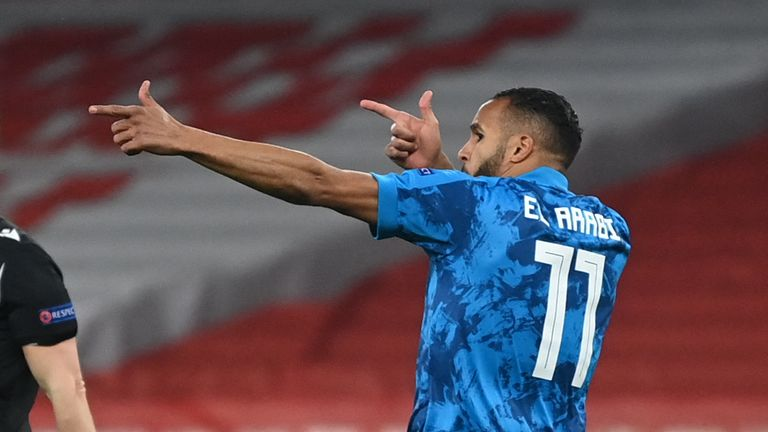 Youssef El-Arabi's winner on the night was not enough for Olympiakos