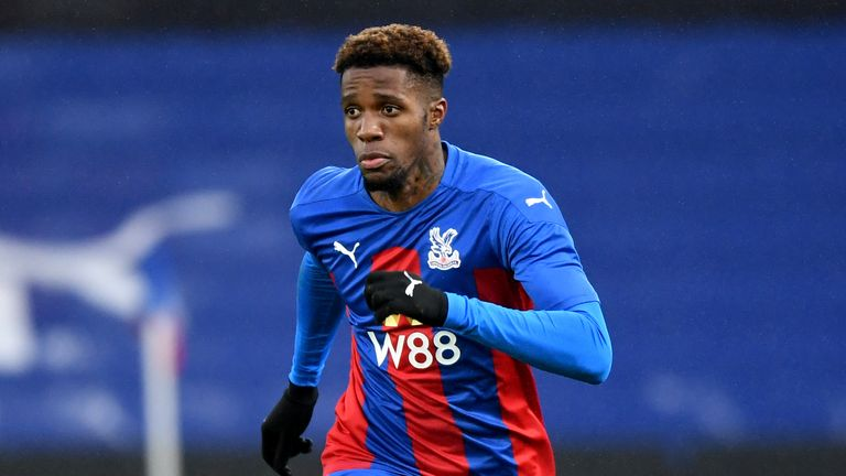 Wilfried Zaha has missed five games with a hamstring injury