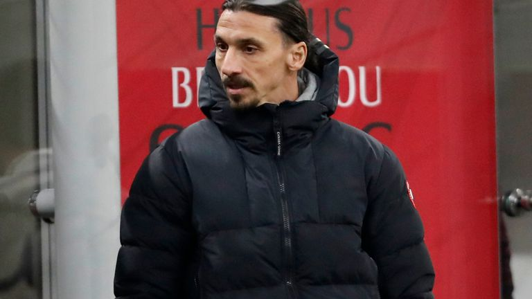 Zlatan Ibrahimovic watched on from the stands as AC Milan drew with Udinese
