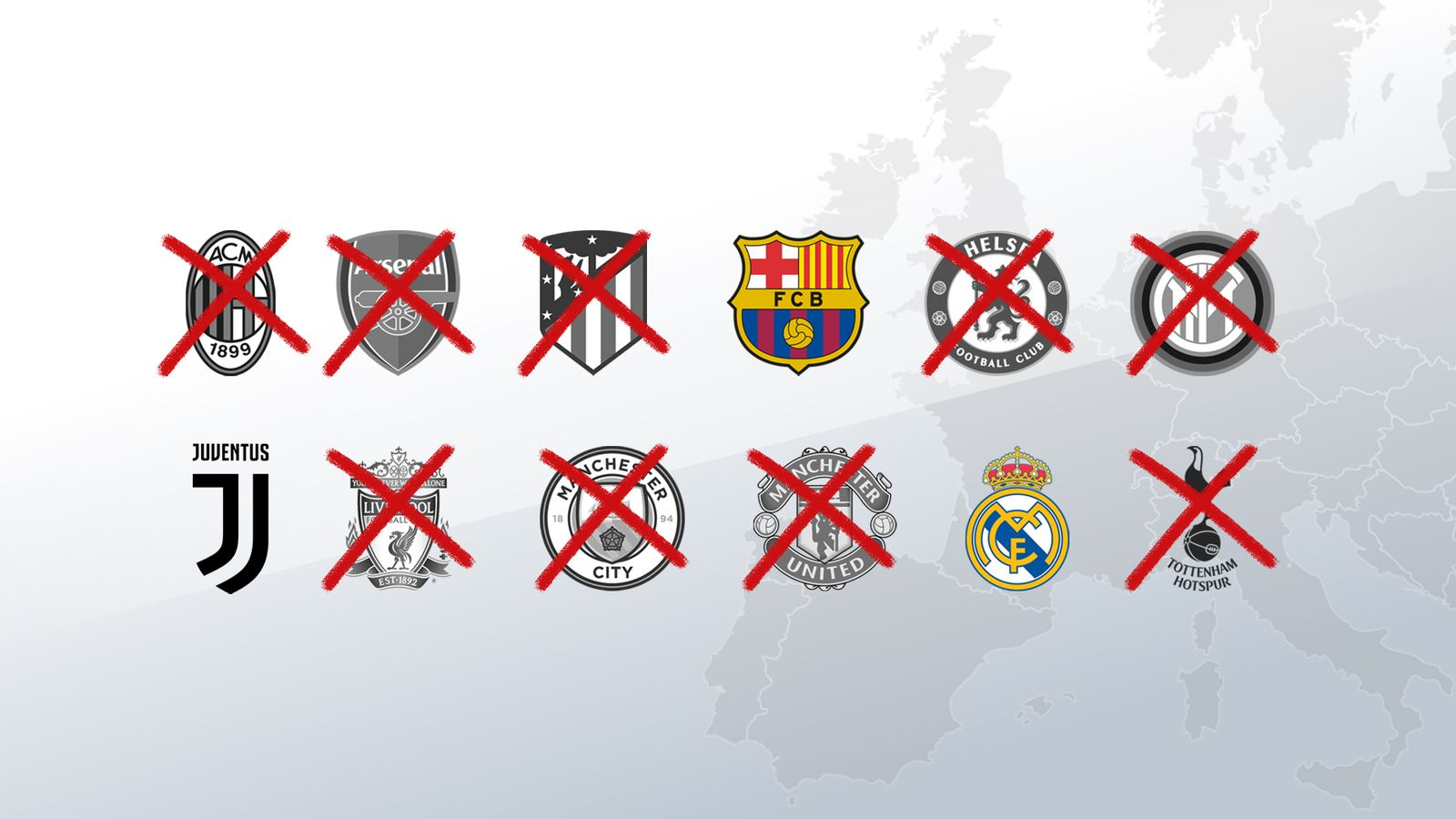 European Super League: Real Madrid, Barcelona and Juventus respond to UEFA