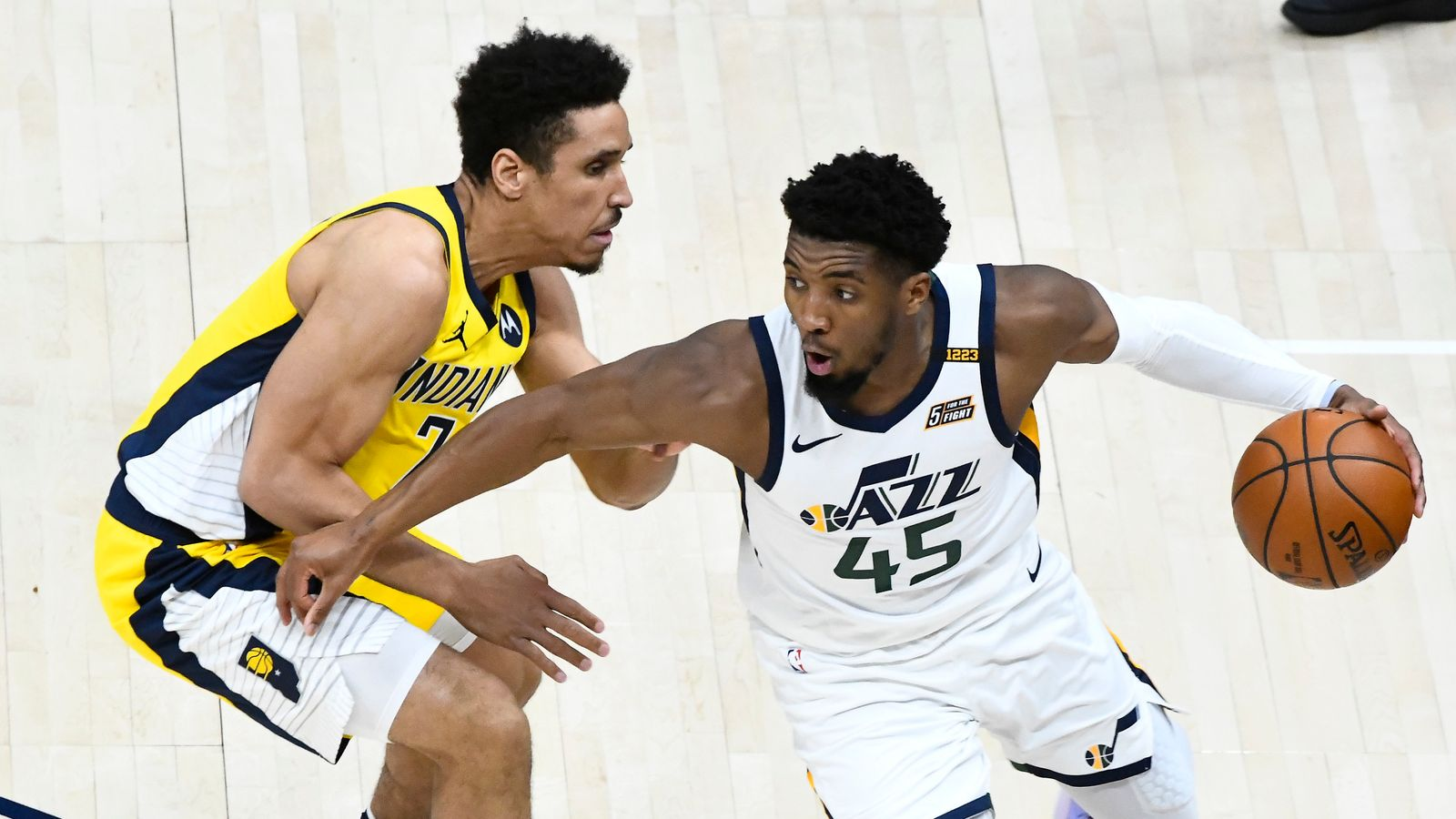 Utah Jazz lose Donovan Mitchell through injury in third quarter, rally to top Indiana Pacers