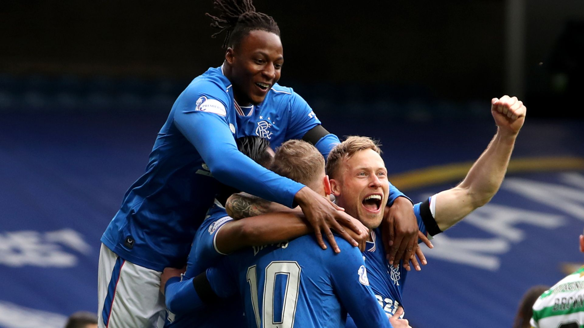 First-half double gives Rangers Old Firm cup win - sky sports