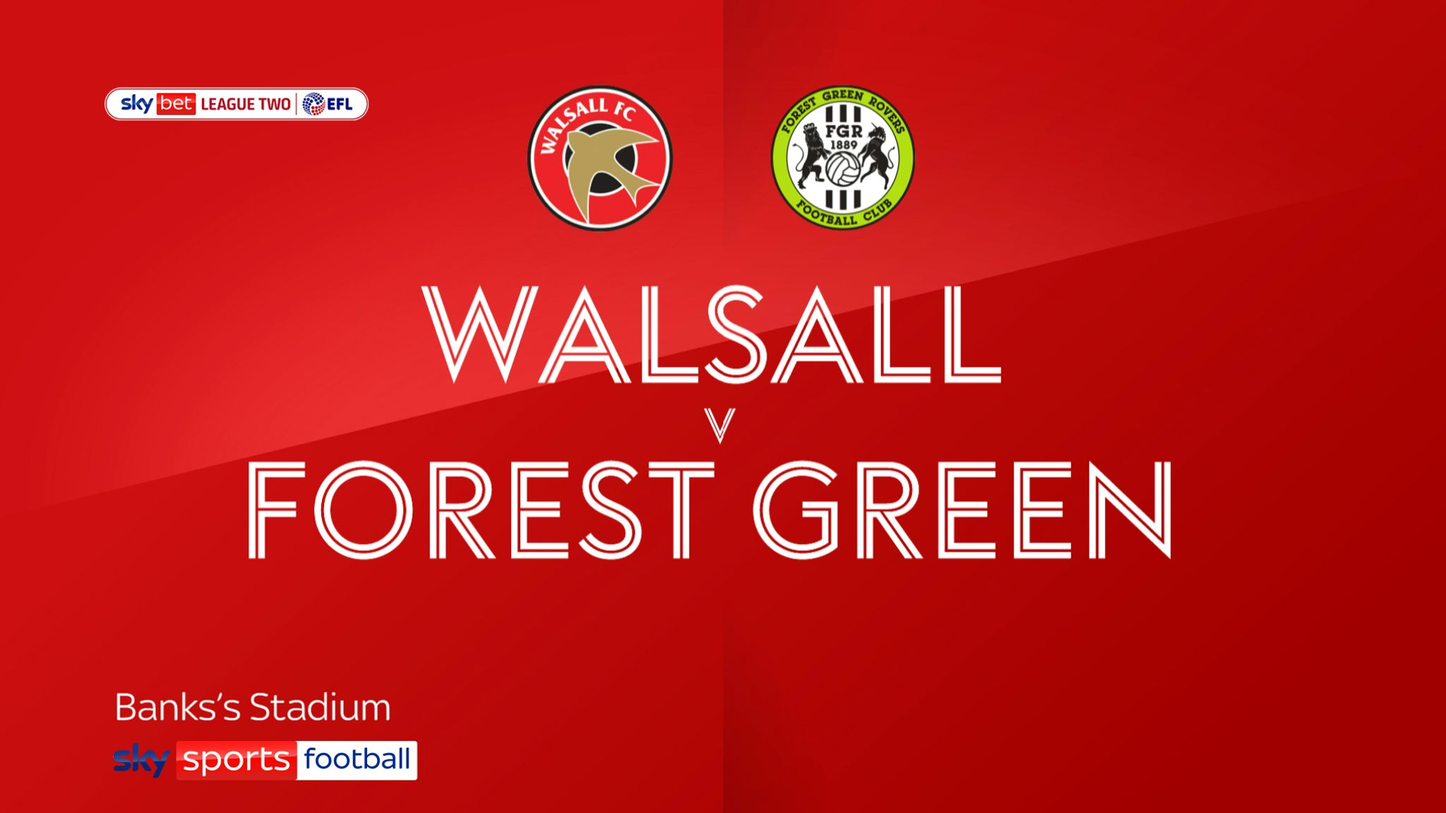 Walsall 2-1 Forest Green: Rovers' automatic promotion hopes hit at Banks's Stadium