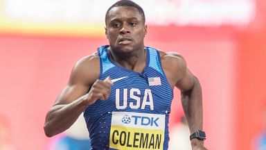 Christian Coleman won the 100m world title at the 2019 Doha world championships in 9.76 seconds