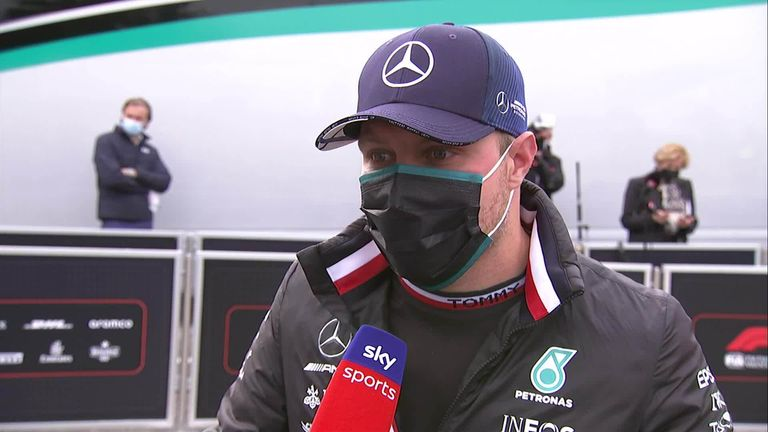 Valtteri Bottas felt George Russell was to blame for the huge collision between the two which left both cars out of the race