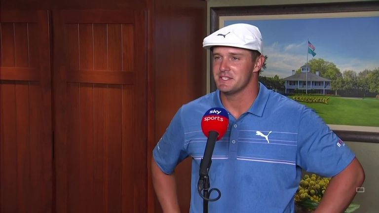 Bryson DeChambeau reflects on a 'great' second round at The Masters and making the most of his distance off the tee to post a second-round 67.
