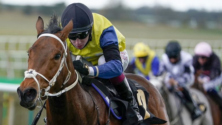 Bellosa ridden by Oisin Murphy, winning at Newmarket