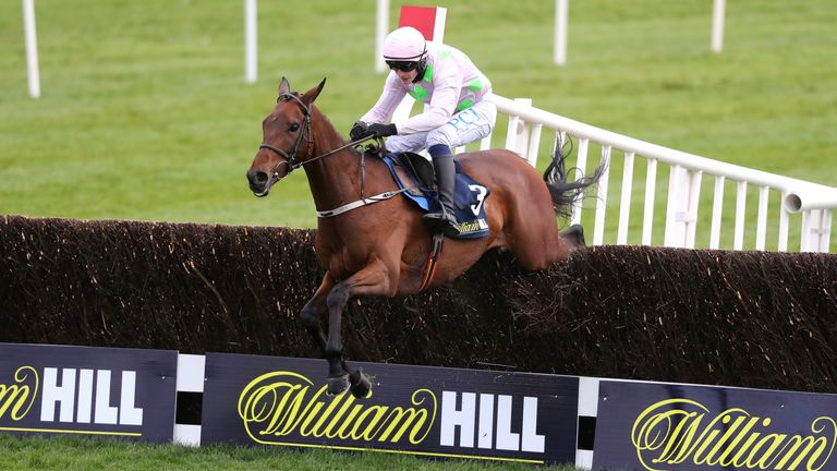 Chacun Pour Soi and Paul Townend coming home to win the William Hill Champion Chase during day one of the Punchestown Festival at Punchestown Racecourse in County Kildare, Ireland. Issue date: Tuesday April 27, 2021.
