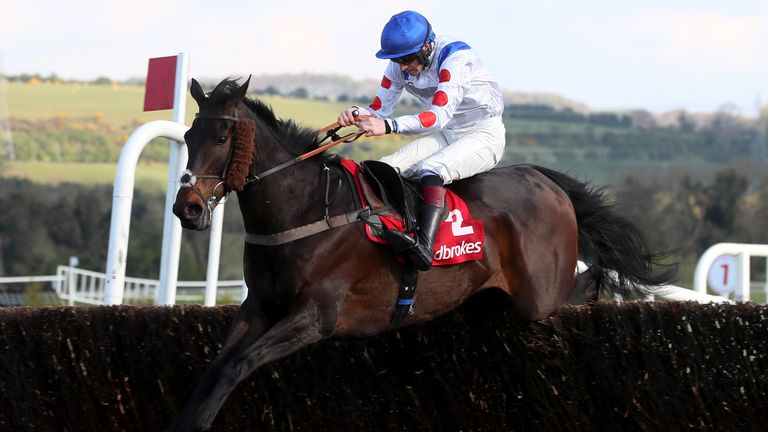 Clan Des Obeaux ridden by Sam Twiston-Davies goes on to win The Ladbrokes Punchestown Gold Cup during day two of the Punchestown Festival at Punchestown Racecourse in County Kildare, Ireland. Issue date: Wednesday April 28, 2021.