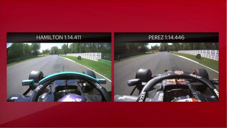 Sky F1's Anthony Davidson analyses the fight for pole between Lewis Hamilton and Sergio Perez in Imola.