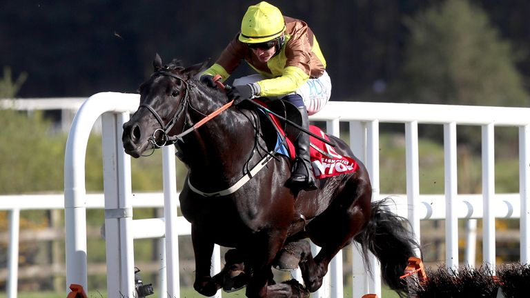 Galopin Des Champs ridden by Paul Townend goes on to win The Irish Mirror Novice Hurdle during day two of the Punchestown Festival at Punchestown Racecourse in County Kildare, Ireland. Issue date: Wednesday April 28, 2021.