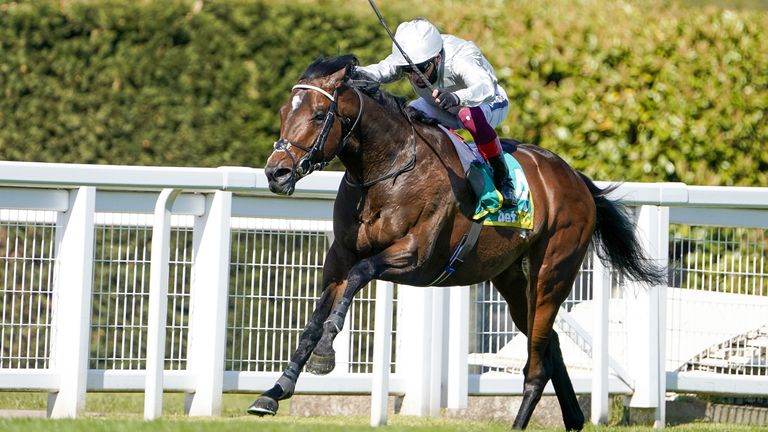 Frankie Dettori riding Palace Pier win The bet365 Mile at Sandown Park Racecourse. Picture date: Friday April 23, 2020.