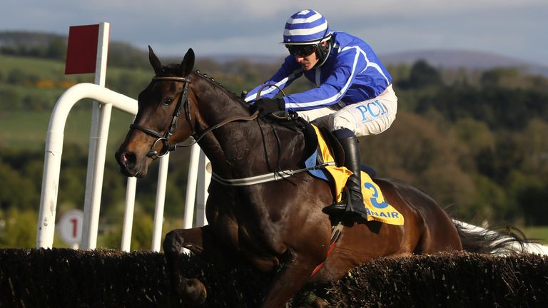 Paul Townend riding Energumene on their way to winning the Ryanair Novice Chase